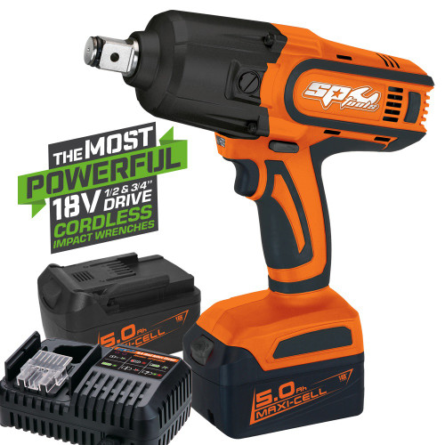 "SP Tools 1788Nm Cordless Impact Wrench 3/4"" Drive 18V."