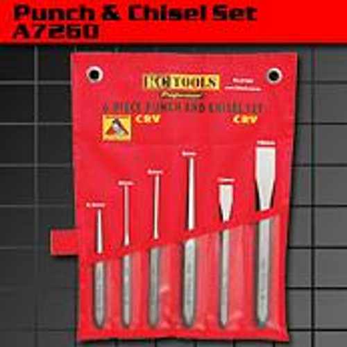 KC Tools 6 PIECE PUNCH/CHISEL SET
