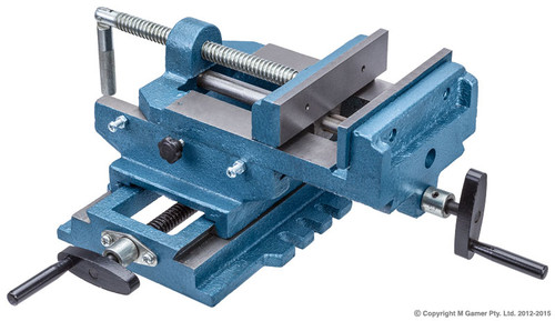 GEIGER TRADE SERIES 150 MM CROSS SLIDING VICE.