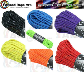 Atwood Rope Paracord | 550lb | 100ft | REFLECTIVE