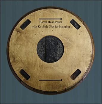 Bourbon Barrel Head | Back Side