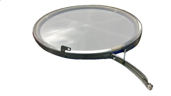 GREIF O-15 Gallon Open Head Poly Drum Cover with Lever Lock Latch Open