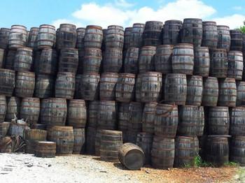 Whiskey Barrels rustic look