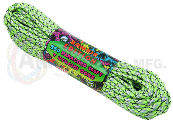 Atwood Rope Paracord | 550lb | 100ft | Zombie Edition | Biosludge