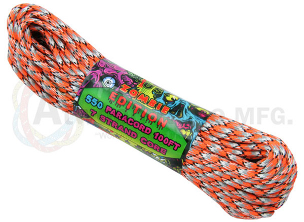 Atwood Rope Paracord | 550lb | 100ft | Zombie Edition | Corrosion