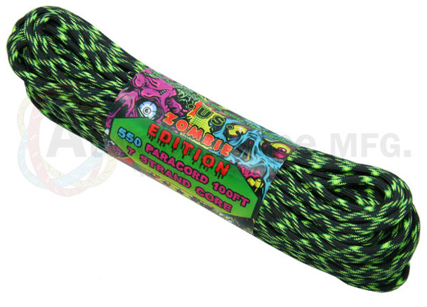 Atwood Rope Paracord | 550lb | 100ft | Zombie Edition | Decay