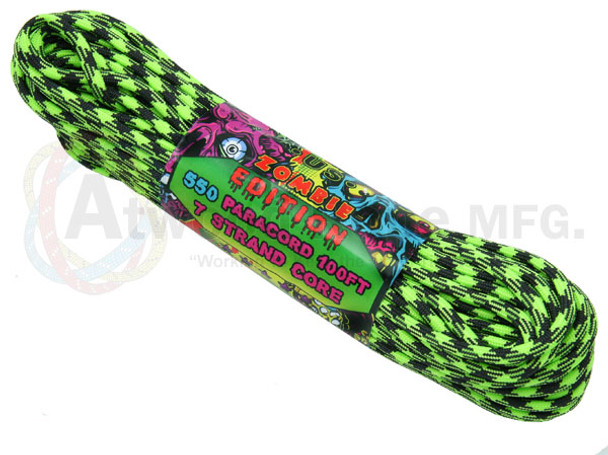 Atwood Rope Paracord | 550lb | 100ft | Zombie Edition | Outbreak