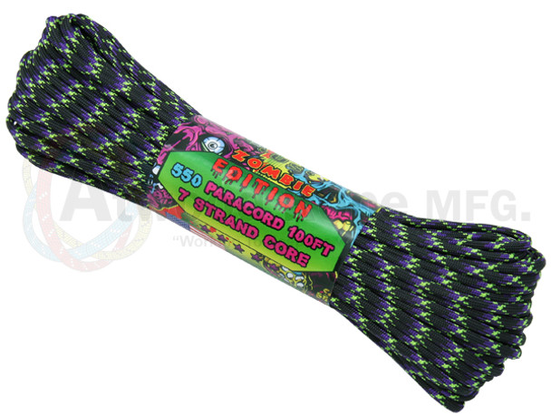 Atwood Rope Paracord | 550lb | 100ft | Zombie Edition | Undead