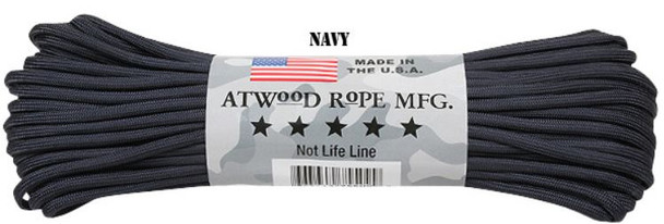 Atwood Rope Paracord | 550lb | 100ft | COLORS | PATTERNS | NAVY