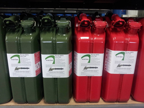 Jerry Can 20L GREEN & RED NOZZLE EPA/CARB APPROVED