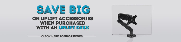 Save big on UPLIFT monitor arms when bundled with a desk. Shop UPLIFT desks now.