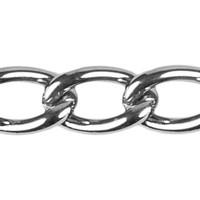 Curb Chain - 2.5mm - Chrome plated