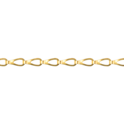 Sash Chain - 12.0mm x 4.5mm - Polished Brass