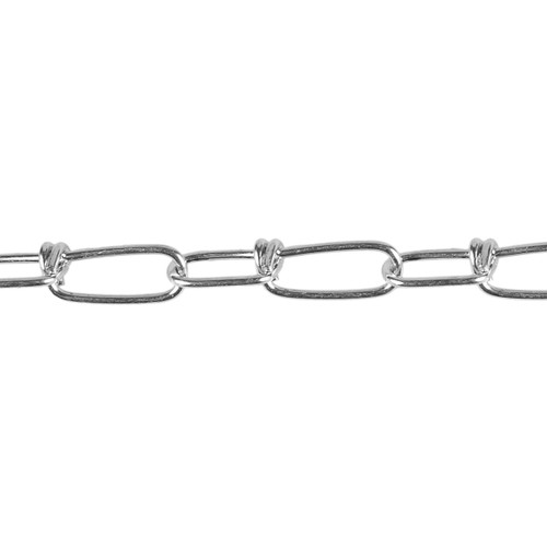 Twisted Coil Chain - 2.5mm - Zinc Plated