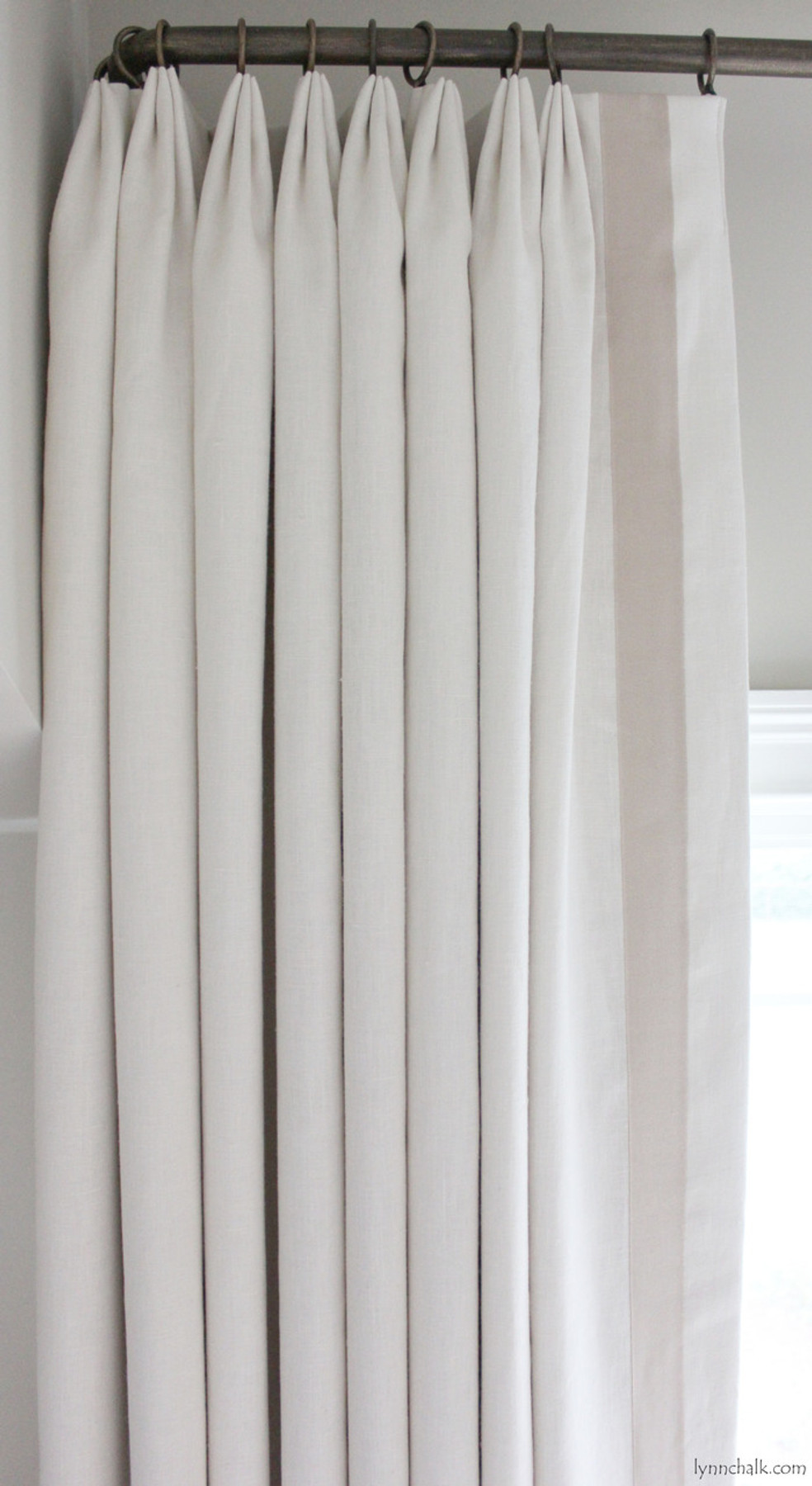 in samuel ribbon fan dublin pleated kravet ii trim custom inch sons and linen grosgrain creme drapes lc euro with sand