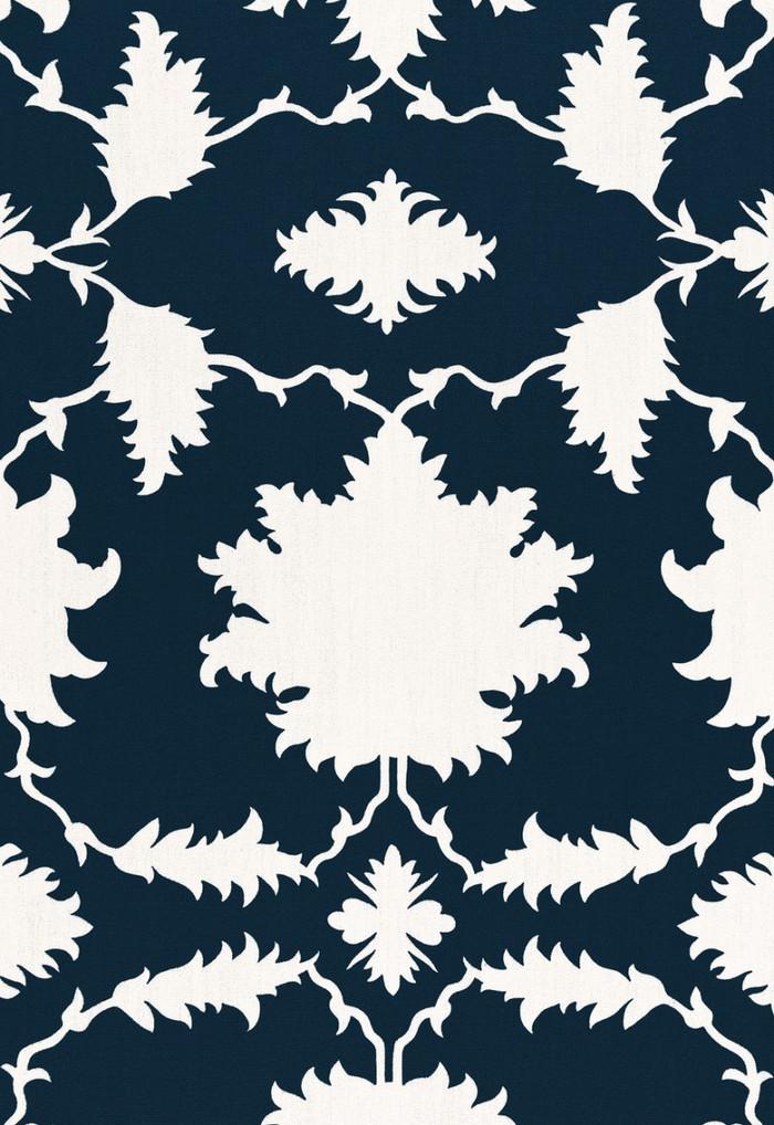 Schumacher Mary McDonald Garden of Persia Bleu Marine 175033