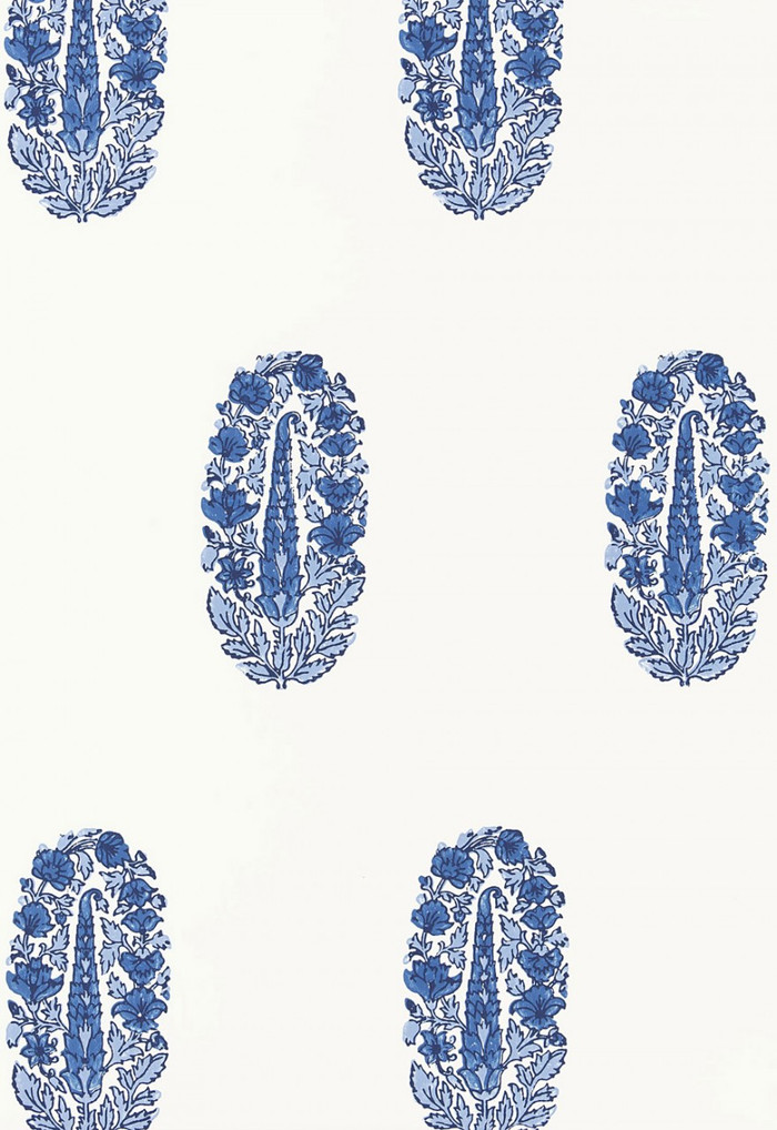 Schumacher Askandra Flower Delft Wallpaper 5005311