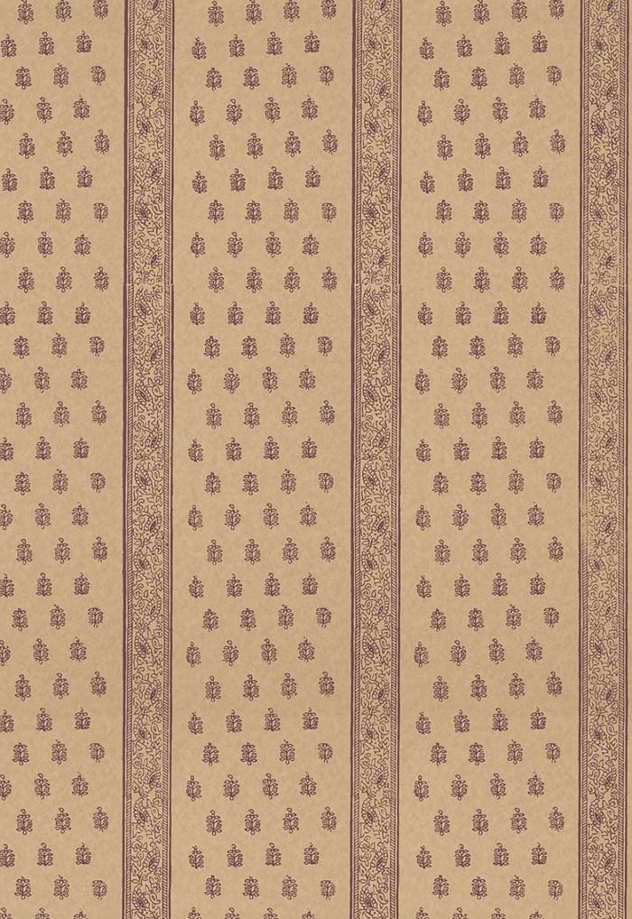 Schumacher Katsura Stripe Wallpaper Aubergine  5005203