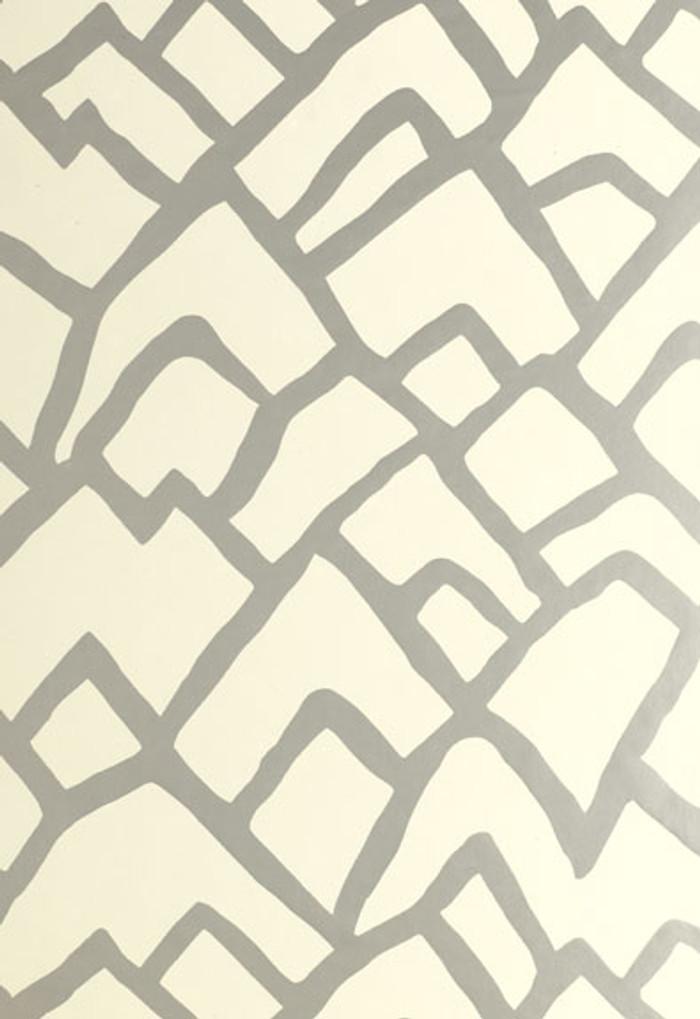 Schumacher Zimba Wallpaper Silver  5003300
