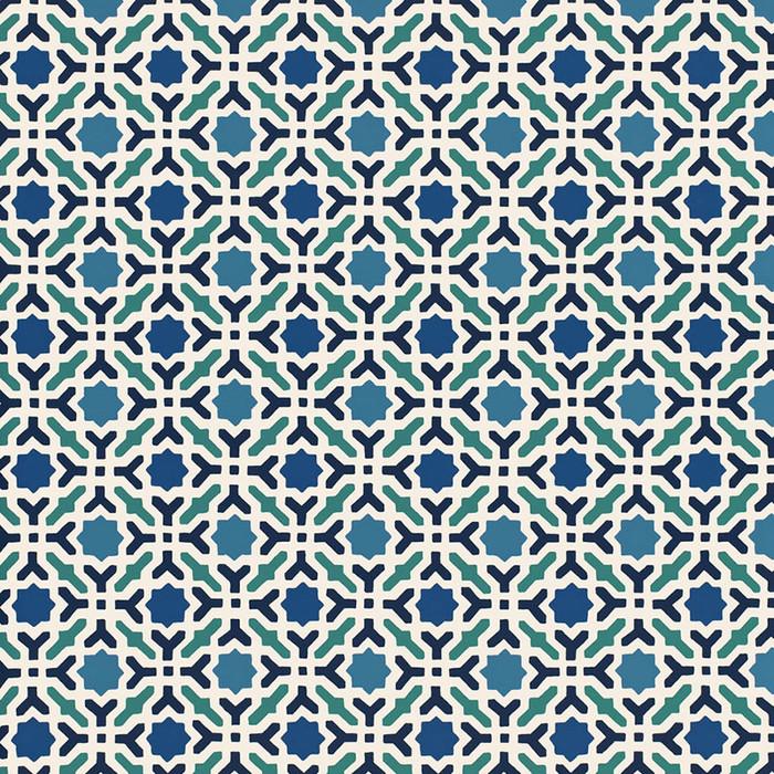 Schumacher Serallo Mosaic Wallpaper Aegean 5005970