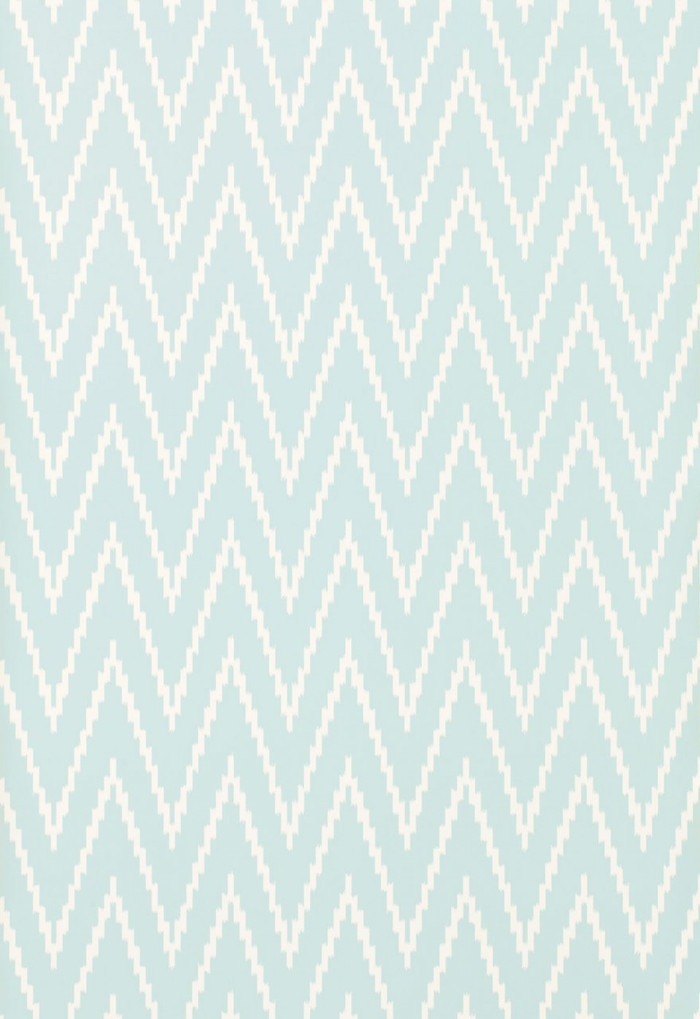 Schumacher Kasari Ikat Wallpaper Sky 5005992