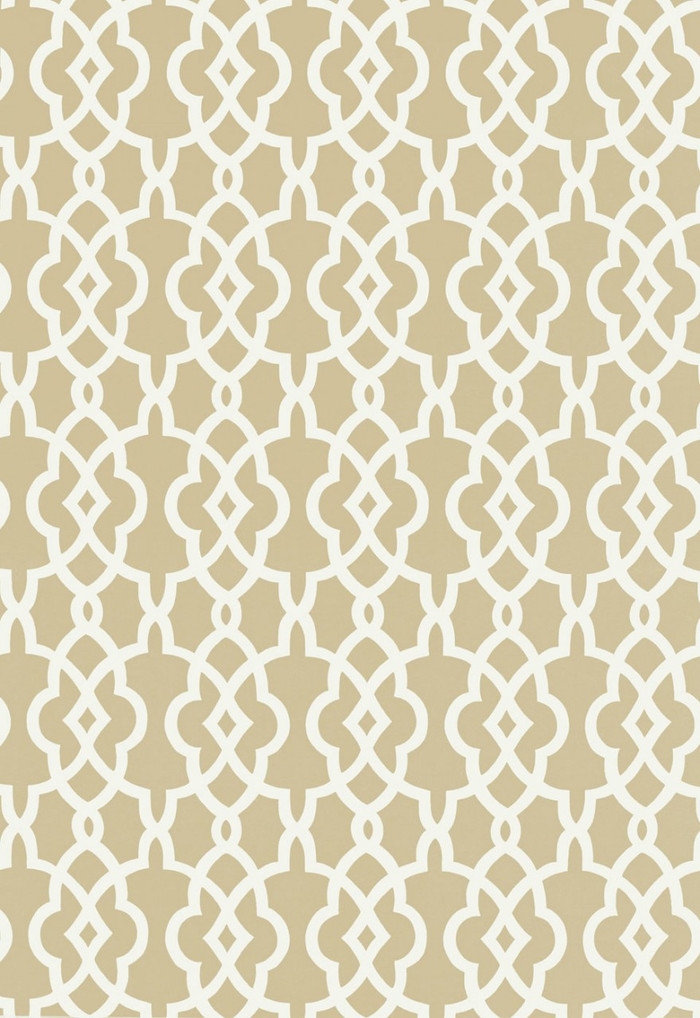 Schumacher Summer Palace Fret Wallpaper Sand 5005140
