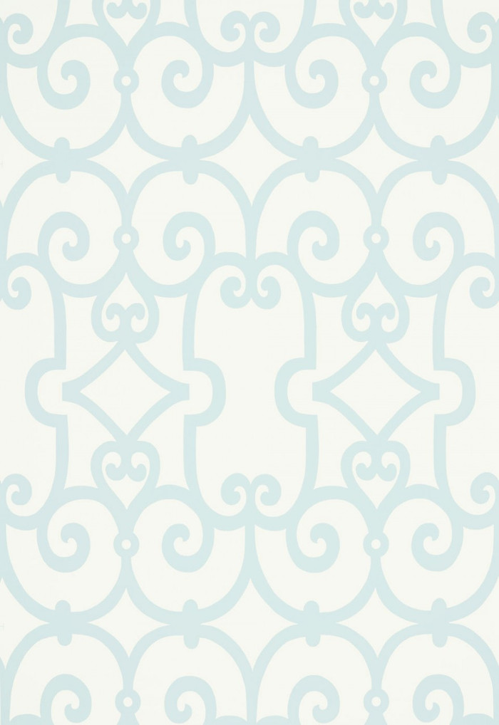 Schumacher Manor Gate Wallpaper Mineral 5005051