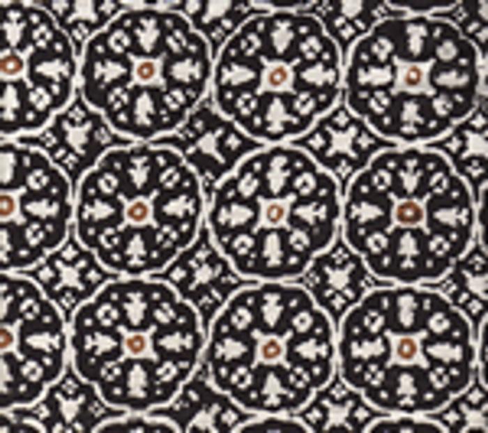 Quadrille Nitik II Black Brown on White