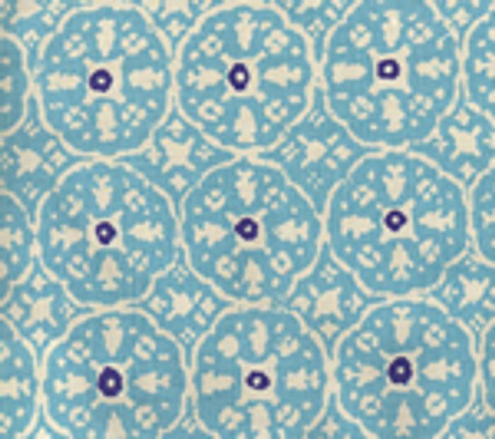 Quadrille Nitik II New Turquoise on Tint