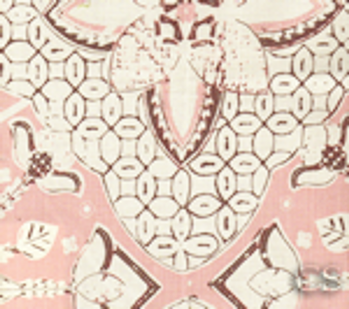 Quadrille New Batik Soft Pink Brown on Tint