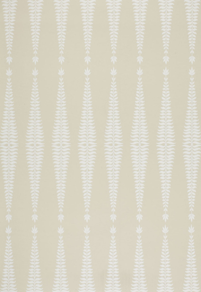 Schumacher Fern Tree Wallpaper in Bone  5005071