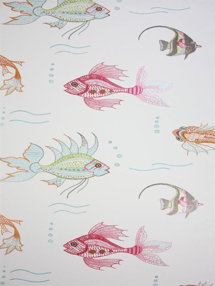 Aquarium Wallpaper 03 by Osborne & Little by Nina Campbell Perroquet