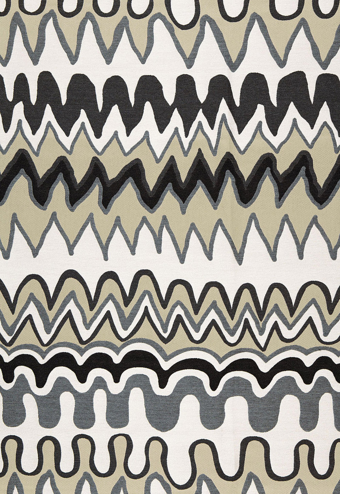 Trina Turk Zig Zag Weave Black Sea Indoor/Outdoor