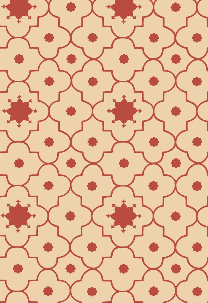 Martyn Lawrence Bullard Wallpaper Taj Trellis in Pomegranate