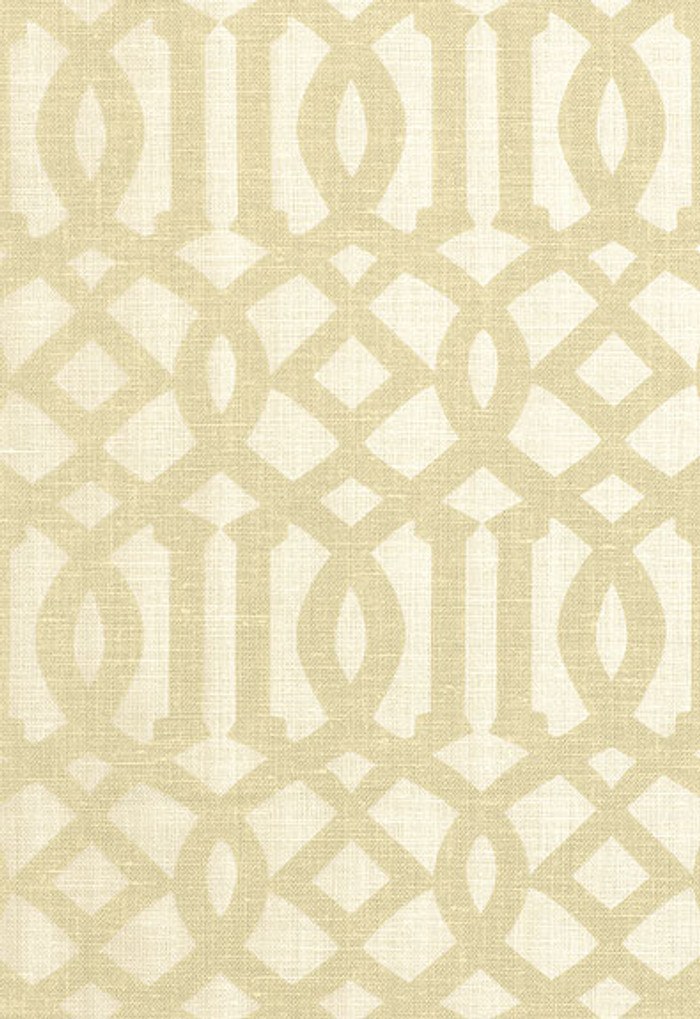 174412 Kelly Wearstler Fabric Imperial Trellis II Sand Ivory