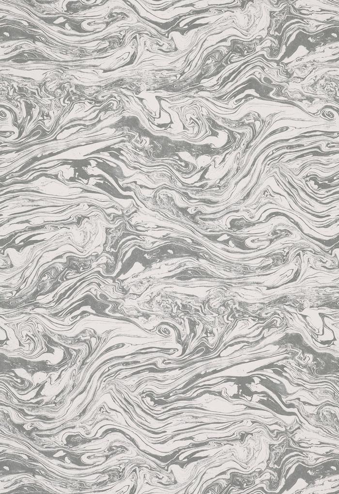 Martyn Lawrence Bullard Wallpaper Romeo in Carrara for Schumacher (Priced & Sold by the Yard)