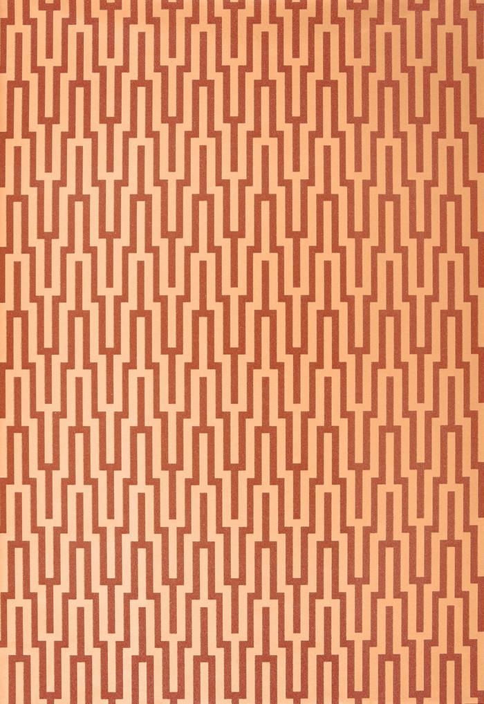 Schumacher Metropolitan Fret Wallpaper Amber 5005893