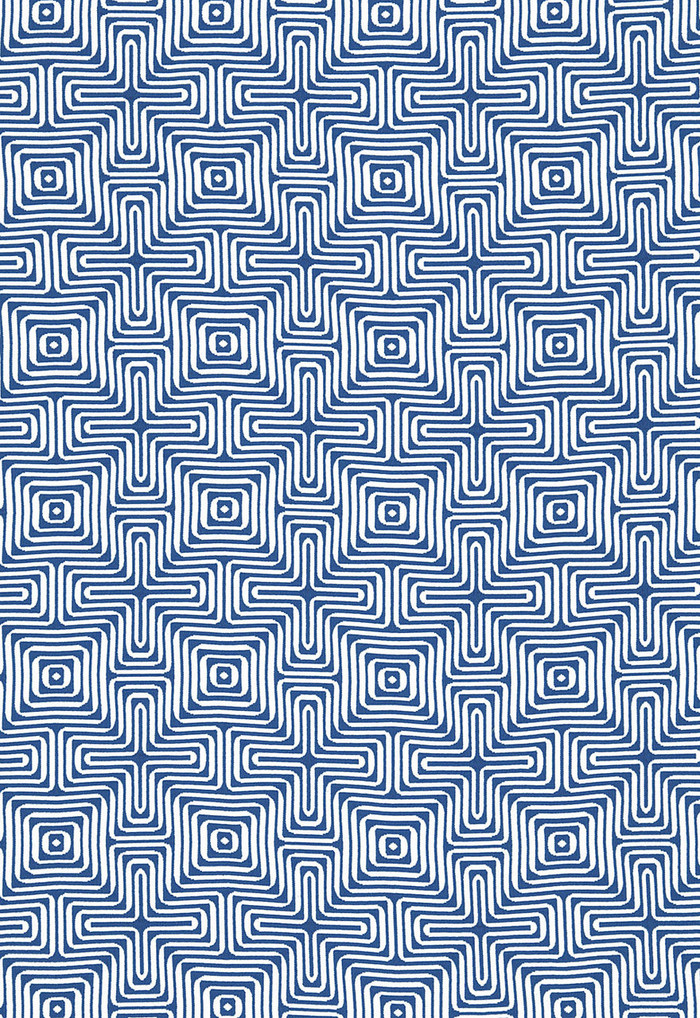 Trina Turk Amazing Maze Indoor/Outdoor in Ocean for Schumacher 65320