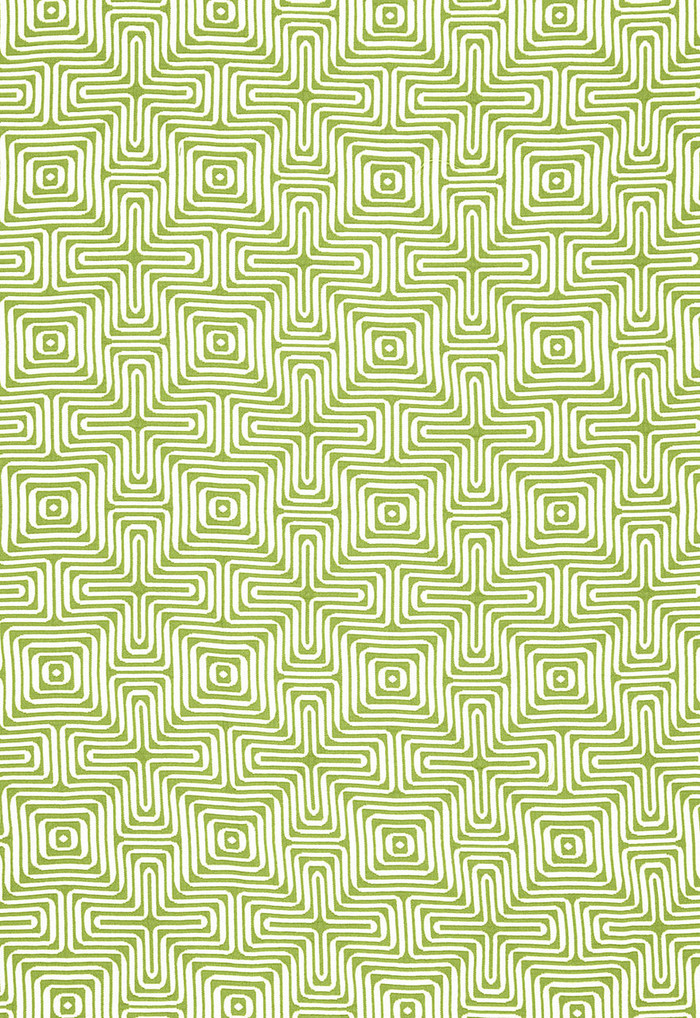 Trina Turk Amazing Maze Indoor/Outdoor in Palm for Schumacher 65321