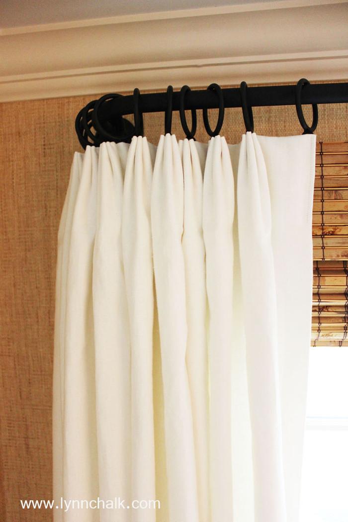 Fan Pleated Drapes in Kravet Dublin Linen (Comes in Over 50 Beautiful Colors)