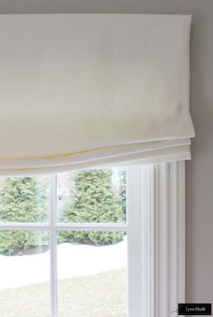 Relaxed Roman Shades in Linen (lots of color options)