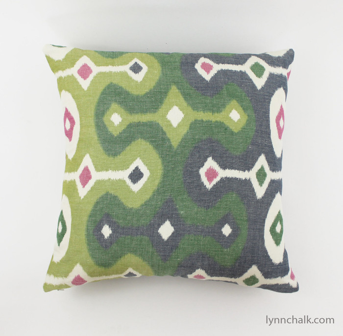 Schumacher Martyn Lawrence Bullard Darya Ikat Pillows (shown in Jewel-comes in other colors)