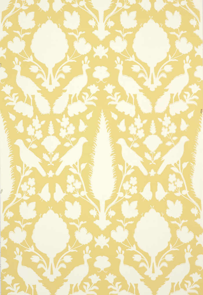 Schumacher Chenonceau Wallpaper Buttercup  5004126