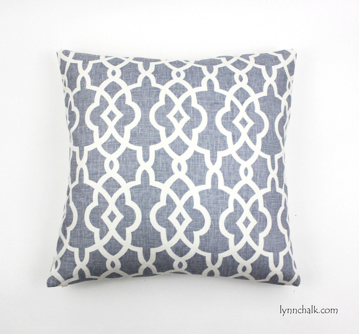 Schumacher Summer Palace Fret Custom Pillows in Wisteria (Available in other colors) 2 Pillow Minimum Order