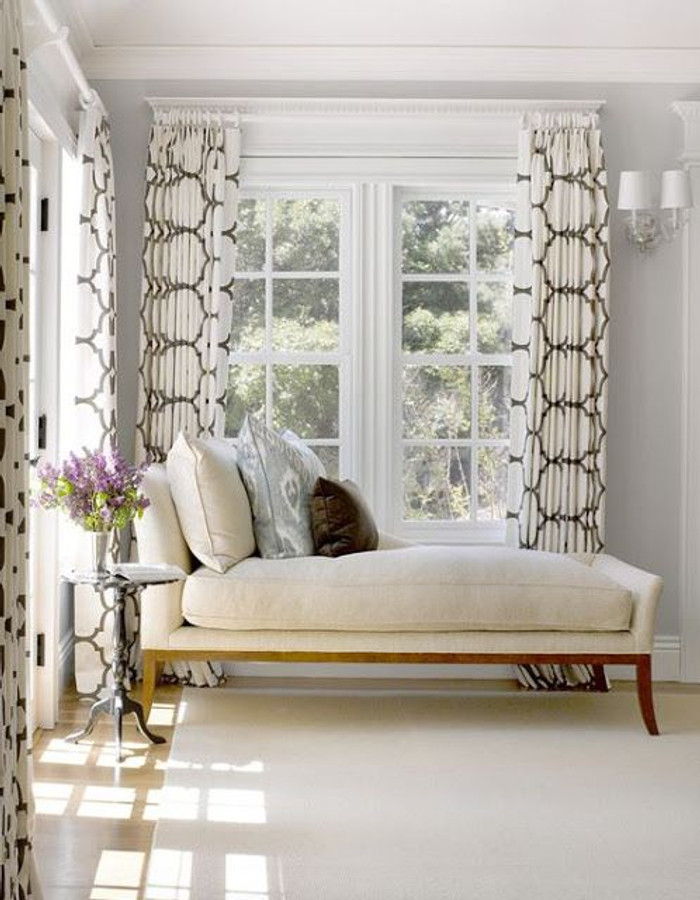 Windsor Smith Riad Living Room Drapes in Clove Brown
