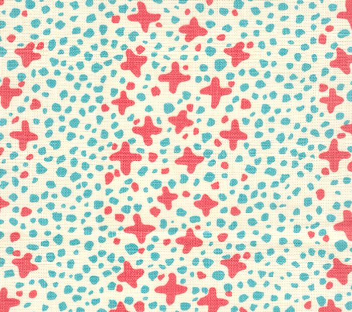 Jacks II Shrimp Turquoise Dots on Tint AC220-02