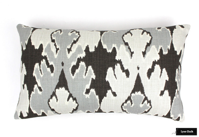 ON SALE 50% OFF Kelly Wearstler Bengal Bazaar in Graphite Pillow (Both Sides-14 X 24)  Only 1 Remaining at This Sale Price