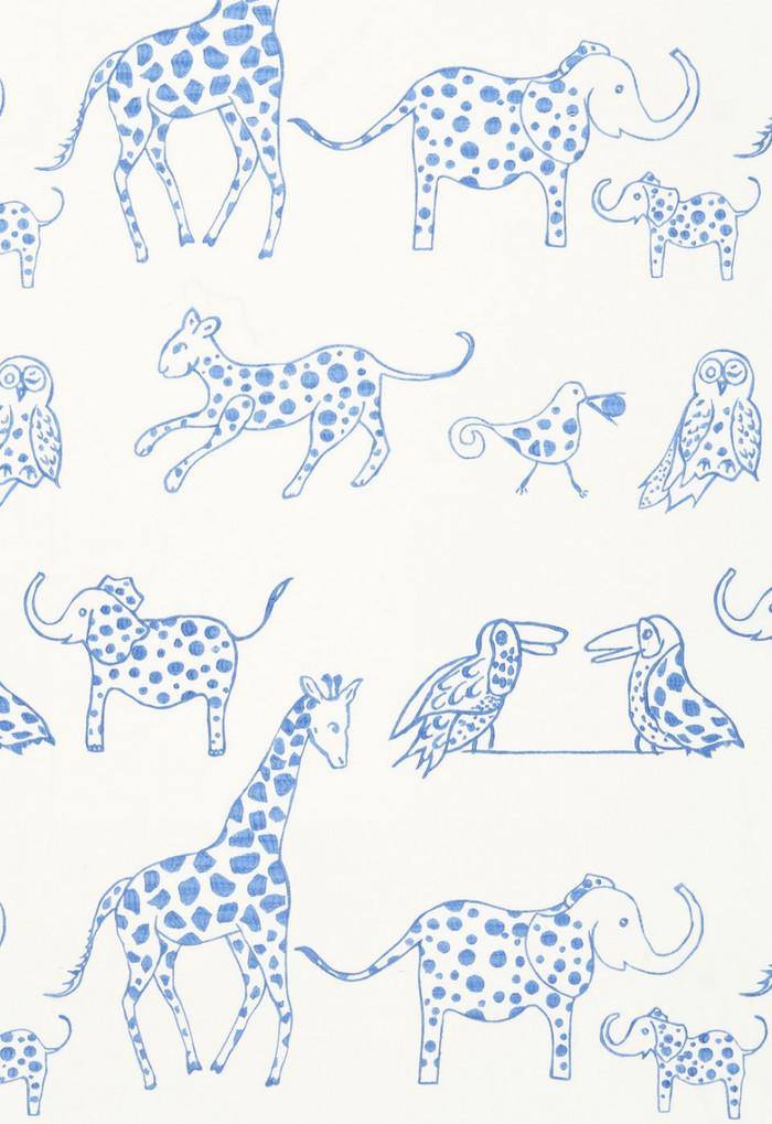 66251 Lulu DK Fabric Jungle Jubilee Sky