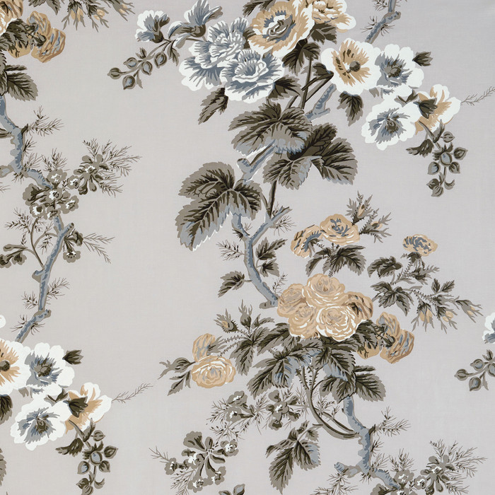 Pyne Hollyhock Print in Grisaille