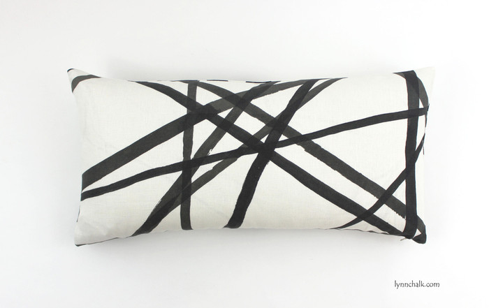 ON SALE Kelly Wearstler Channels Ebony/Ivory Pillow 12 X 20 (only 1 remaining at sale price)